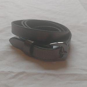 Express Charcoal Silver Belt